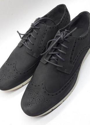 Мужские кожаные туфли броги кежуал timberland waterproof sensor flex comfort systems