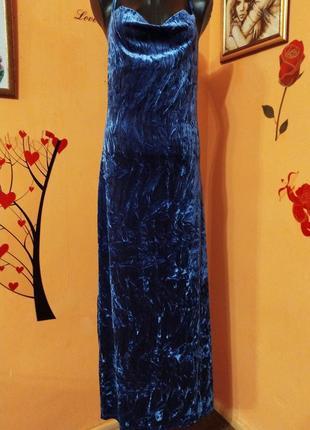 Вечернее бархатное платье ,,new look