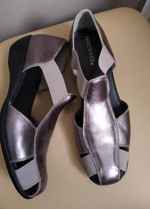 42 p. aerosoles кожаные удобные туфли босоножки