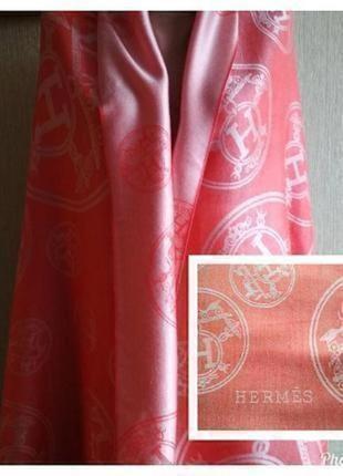 Hermes двусторонний палантин шарф, кашемир и шелк