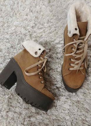 Утеплені черевички tambourin від andre нат.замш р.37.1 фото