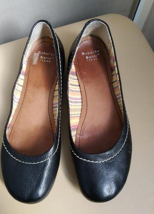 38 p. roberto santi кожаные туфли балетки