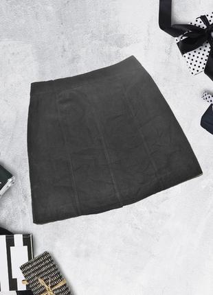 Новая юбка с карманами под замшу divided by h&m2 фото