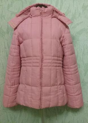 Зимняя стеганая курточка, размер xxl + перчатки в подарок