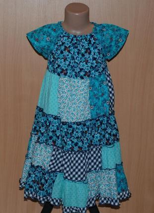 Красивое летнее платье на девочку бренда topolino/ 100%хлопок/