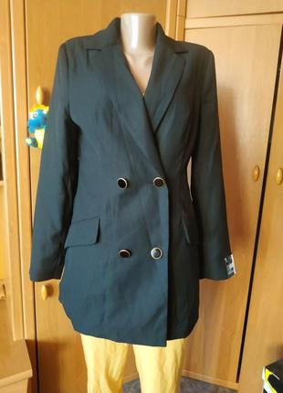 Двубортный пиджак р. 38 от atmosphere boyfriend jacket