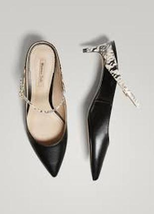 Кожаные туфли/лодочки,босоножки massimo dutti