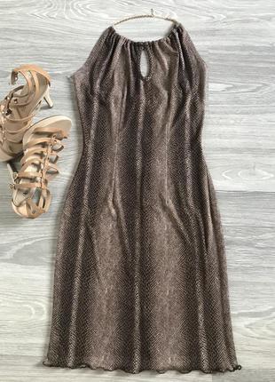 Платье летнее вечернее змеиный принт cyl , р.44-46