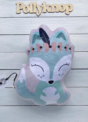 Подушка игрушка,плюшевая лисичка
