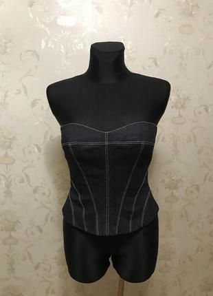 Шикарный джинсовый корсет от дизайнера karen millen p.s-m