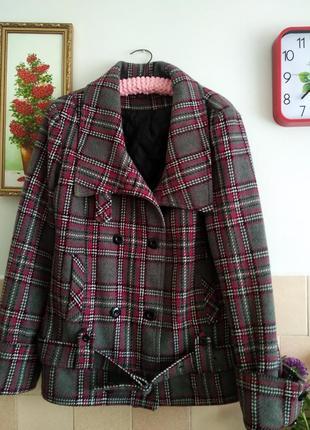 Пальто шерстяное большой размер