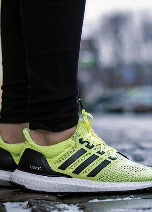 Adidas ultra boost оригинал унисекс   frozen yellow / midnight indigo