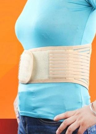 Бандаж для таза\поясницы one size  бежевый утягивающий пояс корсет поддержка