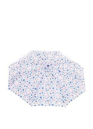 Женский зонт-полуавтомат baldinini 566 белый в звездах