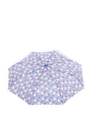 Женский зонт-полуавтомат baldinini 566 синий в звездах