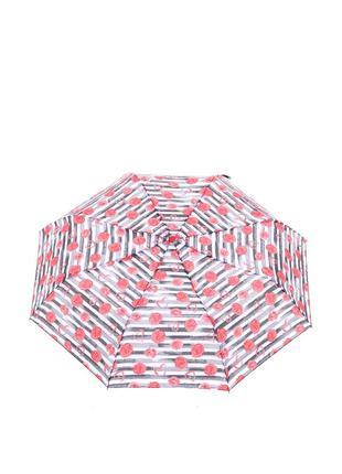 Женский механический зонт baldinini 587 серый с красным