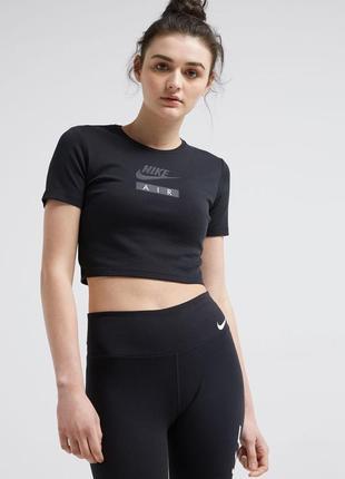 Хлопковая укороченая футболка/ кроп топ nike air оригинал m