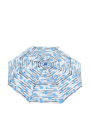 Женский механический зонт baldinini 587 серый с синим