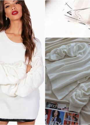 Франция стильный теплый свитер коллекции boutique  sweewe paris / теплий светр cream