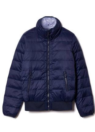 Двухстороняя пуховая куртка-бомбер benetton