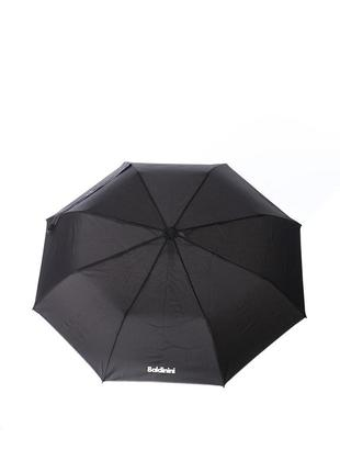 Женский зонт-полуавтомат baldinini 5583 черный с белым