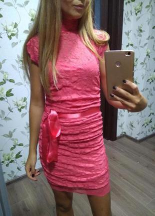 Sale платье кружевное гипюр размер 6 хс яркое летнее нарядное праздничное