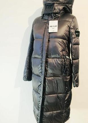 Голограммный/зимний пуховик/пальто пуффер с капюшоном/скафандр as.ylm best fashion.
