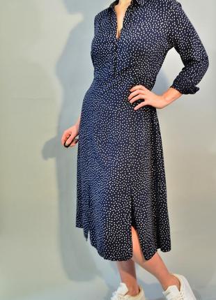 4139\110 платье рубашка в горошек m&s  xl