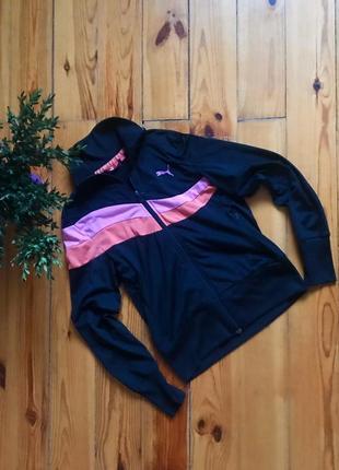 Олимпийка кофта спортивная на молнии puma пума винтаж. р-р м