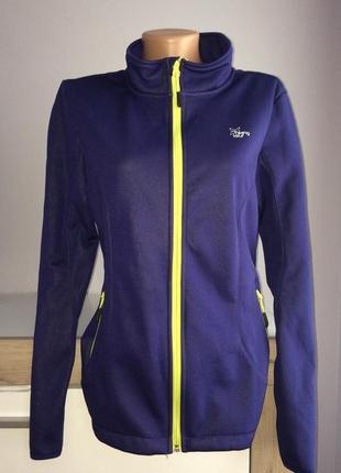 Яркая спортивная термо куртка, софтшелл на флисе