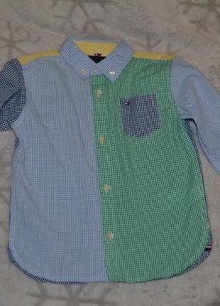 Новая рубашка tommy hlfiger оригинал на 3 года рост 98