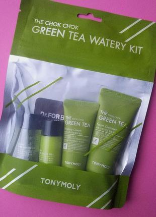Набор tony moly the chok chok green tea waterly kit