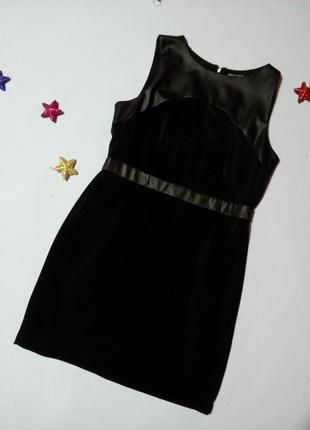 Чёрное платье с красивой спинкой 16