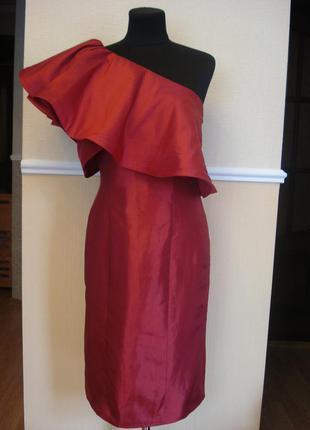 Вечернее атласное платье футляр tulipia