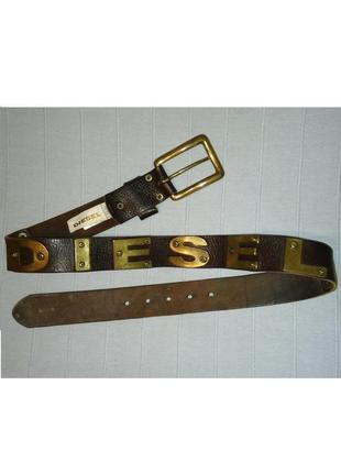 Байкерский ремень diesel пояс кожаный