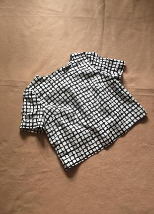Укороченная блузка в клетку