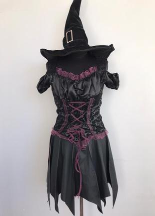 Ведьма готическая костюм платье 46-48