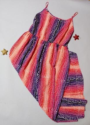 Длинное лёгкое платье на тонких бретелях 20
