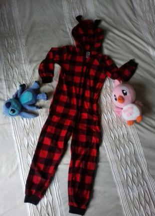 Кенгуруми / пижама / кенгурумі /піжама /новогодний принт