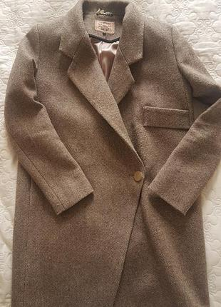 Шерстяное пальто оверсайз ricco , s
