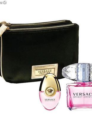 100% оригинал versace bright crystal подарочный набор парфюм духи туалетная вода
