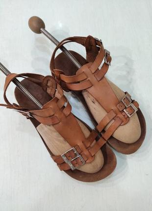Yokono кожаные ортопедические босоножки, сандалии на пробковой подошве