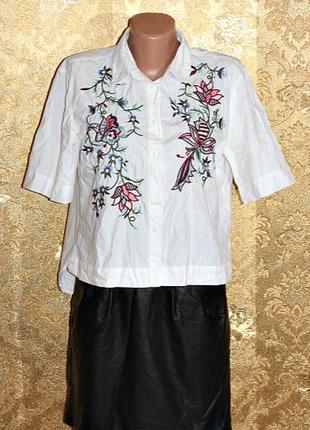 Рубашка с вышивкой от  zara, вещи в наличии💚+скидки, заходите💚