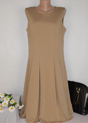 Брендовое нарядное макси платье в горошек ronni nicole xl- xxl