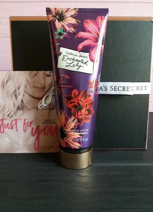 Парфюмированный лосьон крем для тела enchanted lily victoria's secret