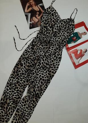 Шикарный леопардовый комбинезон 100%viscose