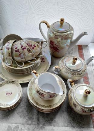 Сервиз чайный fortuna фарфор из гдр винтаж1 фото