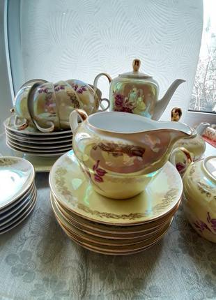 Сервиз чайный fortuna фарфор из гдр винтаж4 фото