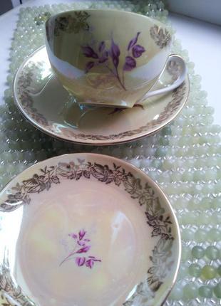 Сервиз чайный fortuna фарфор из гдр винтаж7 фото