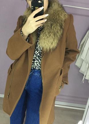 Шикарное пальто беж💫